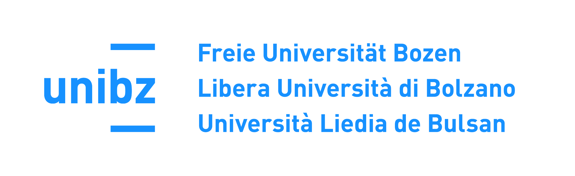 Logo Freie Universität Bozen; Libera Università di Bolzano; Università Liedia de Bulsan